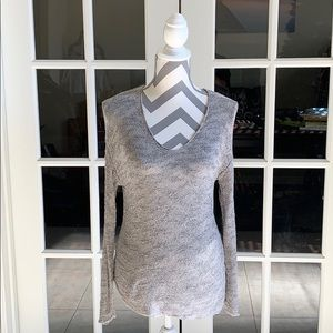 Zara gray knitted V neck sweater